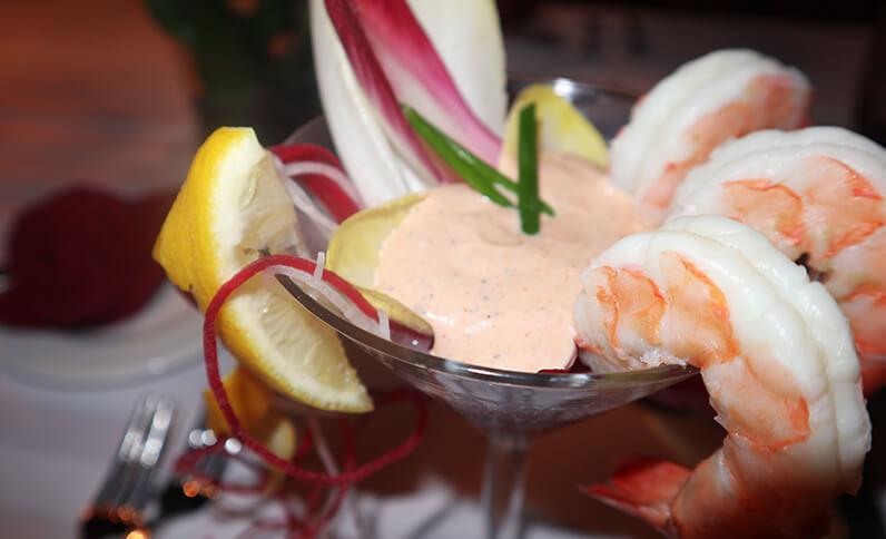 Shrimp Cocktail Inside